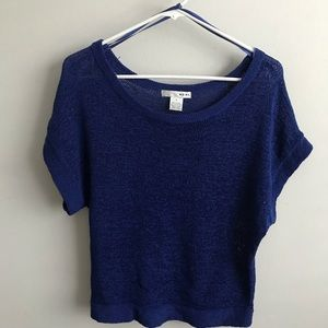 WD.NY Knit Blue Short Sleeved Top